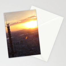 Sunset in Seoul Stationery Cards