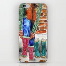 Autumn shoes iPhone & iPod Skin