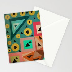 crazy triangles Stationery Cards