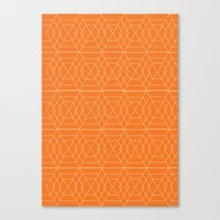 orange hex Canvas Print