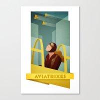 Aviatrixes Canvas Print
