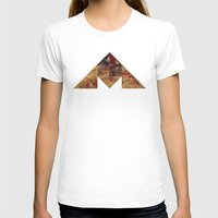 COAL MOUNTAIN Womens Fitted Tee White SMALL