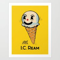 MR. Ice Cream, Mr. I.C. … Art Print