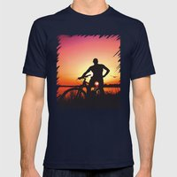 Sunset Magic Mens Fitted Tee Navy SMALL