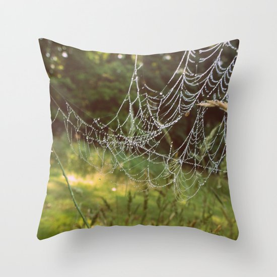 Beads on a String Throw Pillow
