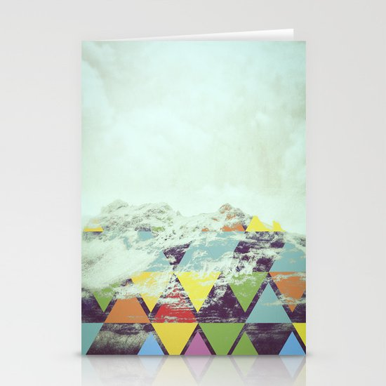 Triangle Mountain Stationery Card