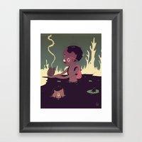 Black-water coconut Framed Art Print