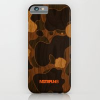 iPhone & iPod Case featuring Modern Woodgrain Camouflage / Duck Print by MSTRPLN®