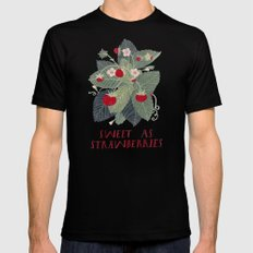 Sweet As Strawberries SMALL Mens Fitted Tee Black
