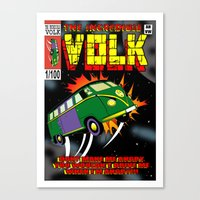 The Incredible Volk Canvas Print