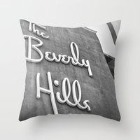 The Beverly Hills Hotel Throw Pillow