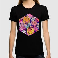 FlowerHex Womens Fitted Tee Black SMALL