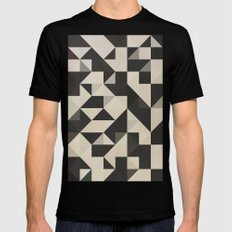 color story - B&W SMALL Black Mens Fitted Tee