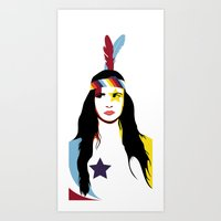 =Juliette Lewis///White= Art Print