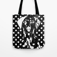 Dog and dot Tote Bag
