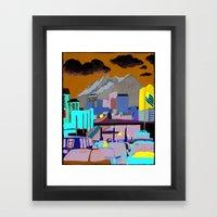 Santa Fe Bridge Framed Art Print