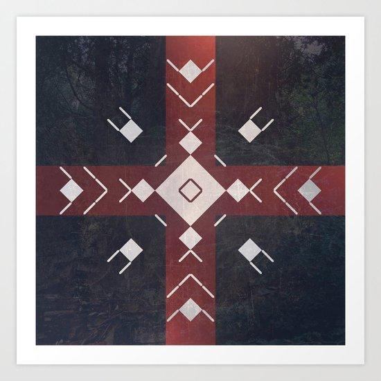 Sanctus Symbology 13 Art Print By David Delagardelle