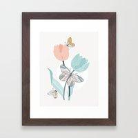 Butterflies And Tulips I… Framed Art Print