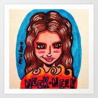 Neek Neek Art Print