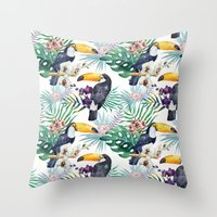 Tropical Watercolor 2 Throw Pillow