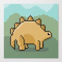 Pixel Dino! Canvas Print