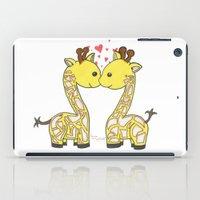 Giraffes in Love iPad Case