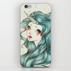 Unicorn Girl iPhone & iPod Skin