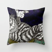 Cheshire Cat HiDef Throw Pillow
