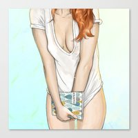 My Morning With Charley Canvas Print
