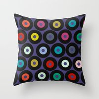 VINYL VIOLET Throw Pillow