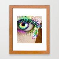 Rainbow Eye Framed Art Print