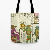 Hero-glyphics: TMNT Tote Bag