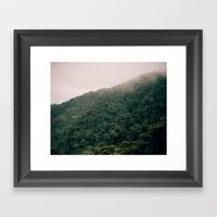 Foggy Hills Framed Art Print