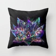Lotus Flower Glow Throw Pillow