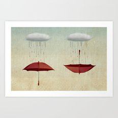 Embracing The Rain Art Print