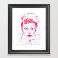 Fashion Hair with Loose Leaf Flair Framed Art Print