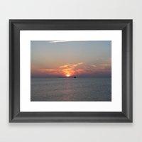 Meet Me At The Beach Framed Art Print