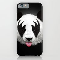 kiss iPhone & iPod Cases featuring Kiss of a panda by Robert Farkas