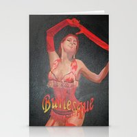Burlesque Dancer Wearing… Stationery Cards