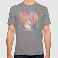 MAMA OUDA WHEN IT RAINed Mens Fitted Tee Tri-Grey SMALL