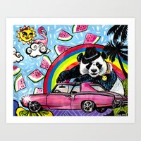 Miami Panda Art Print