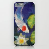 Tancho Koi and Water Lily iPhone 6 Slim Case