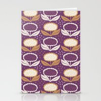 Sunflowers In Purple And… Stationery Cards