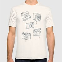 CAMERA SET Mens Fitted Tee Natural SMALL