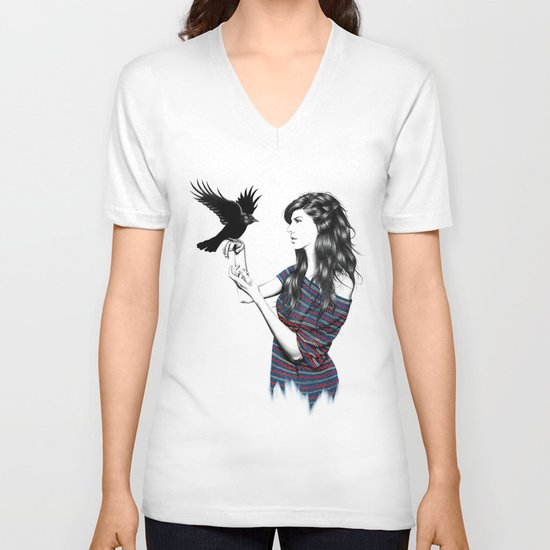 Dark Wings V-neck T-shirt