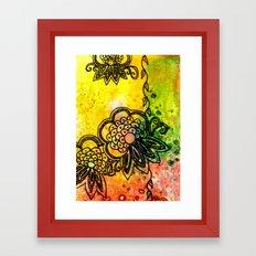 Henna Fantasia Exotic Framed Art Print