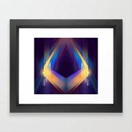 Angular Color Framed Art Print
