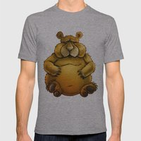 Beary Sorry. Mens Fitted Tee Athletic Grey SMALL