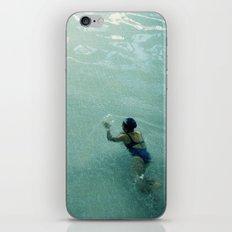 Lady in Swimming Pool 2 iPhone & iPod Skin