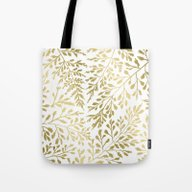 Foliage Gold Tote Bag